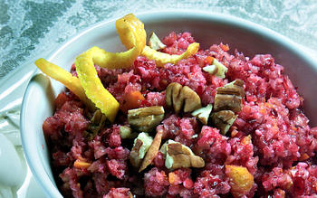 Cranberry, orange and pecan relish