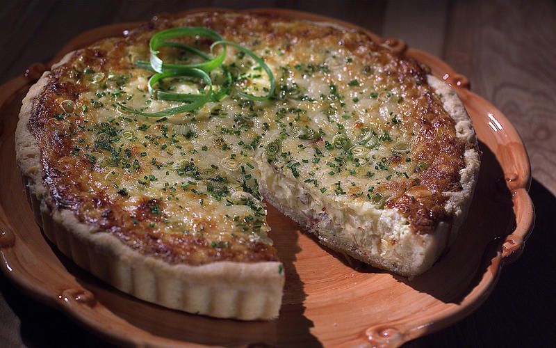 Quiche with bacon and Gruyere cheese