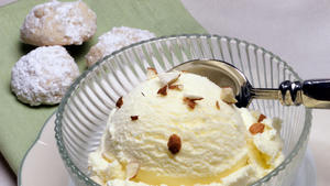 Bitter Almond Ice Cream