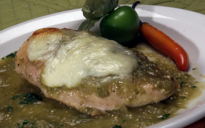 Baked tomatillo chicken