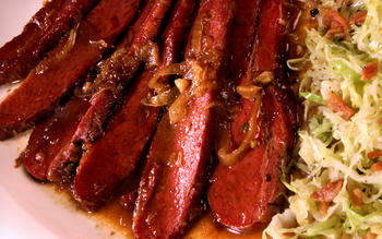 Corned Beef in Bourbon-Brown Sugar Sauce