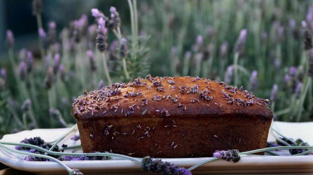 Lavender-lemon poundcake
