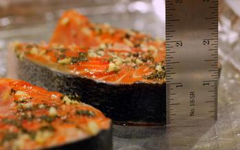 Roasted salmon with pistou