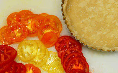 Tomato and Grilled Vegetable Tart