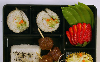 Glazed Meatball Bento