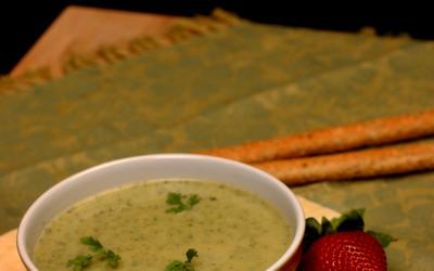 Creamy zucchini soup