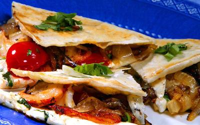 Grilled Shrimp Quesadillas
