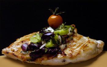 Garlic Grilled Chicken With Cucumber Herb Relish