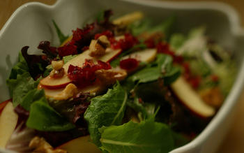 Pear and Apple Salad With Cranberry Vinaigrette