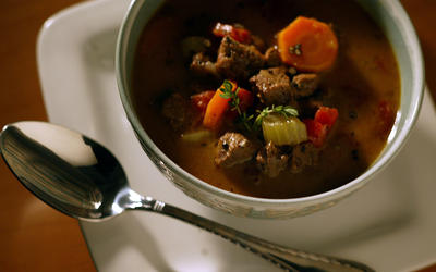 Pam's easy steak soup