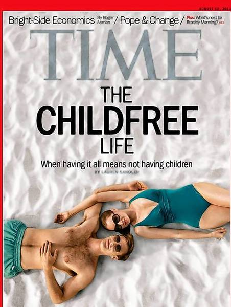 The Aug. 12 issue of Time magazine reports on the uptick in voluntary childlessness and the trend's precarious footing in a world that is more obsessed with parenting now than at any time in modern history.