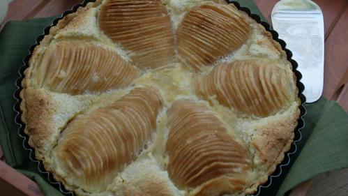 Pear frangipane tart