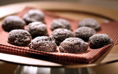 Chocolate sparkle cookies