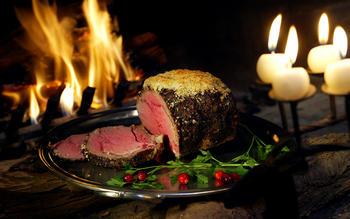Rib roast with tapenade