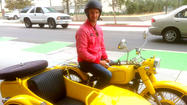 A global journey by motorcycle, fueled by kindness--is he kidding?