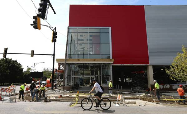 A new Target store is being built at the former Cabrini-Green housing site at f Division and Larrabee streets in Chicago.