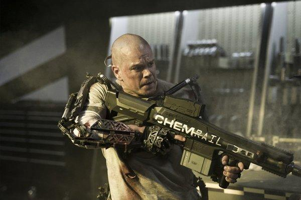 """Elysium,"" starring Matt Damon, opens this weekend."
