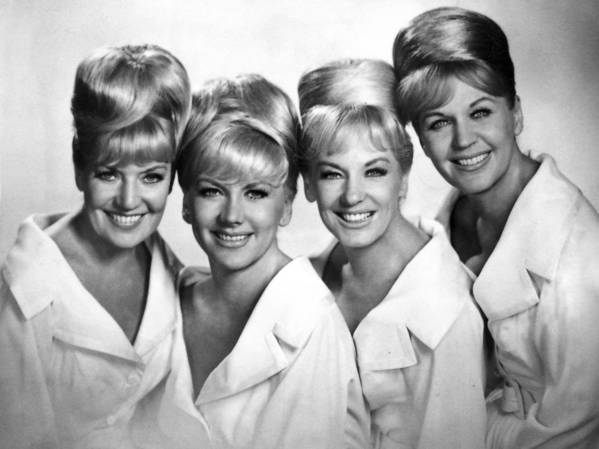 "The King Sisters, shown in the 1960s — from left, Alyce, Marilyn, Yvonne and Luise — earned a 1959 Grammy nomination for their album ""Imagination."""