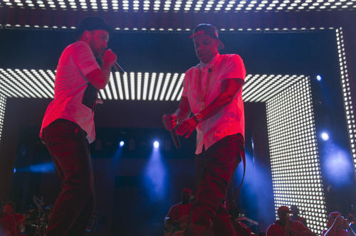 Justin Timberlake and Jay Z perform in Baltimore.