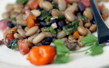 Habanero bean salad