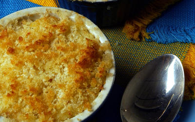 Provencal gratin of brandade and chard