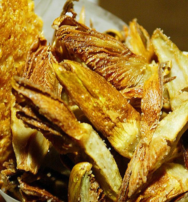 Simplest fried artichokes