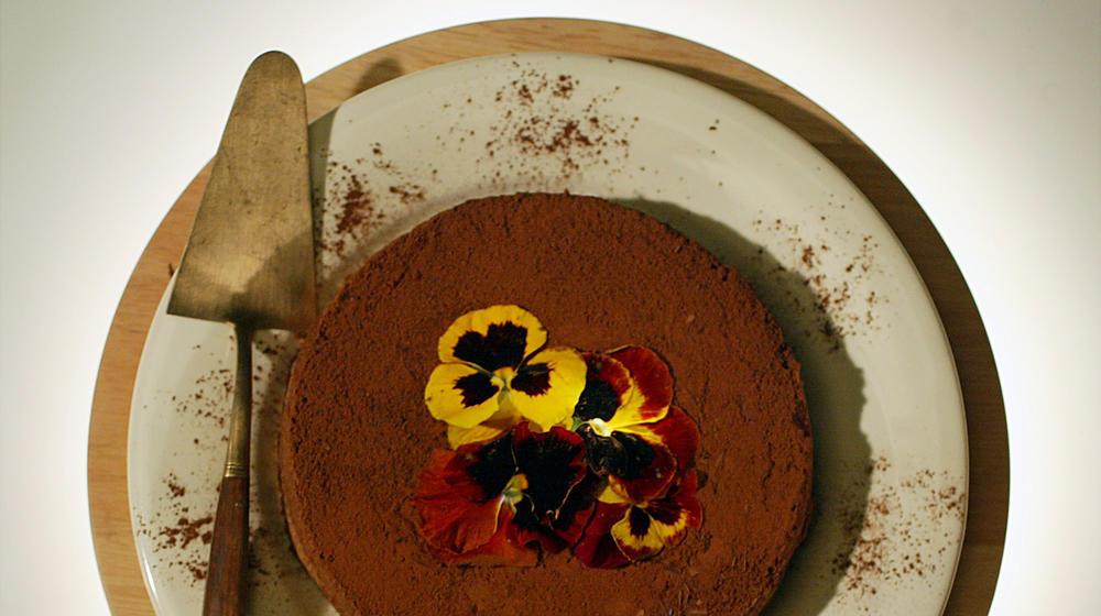 Rich chocolate-almond cake