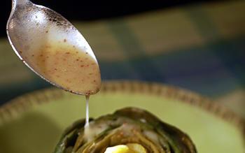 Bistro 110's artichoke stuffed with Brie