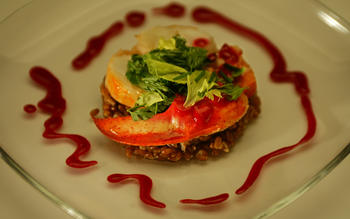 Valentino's lobster-farro salad