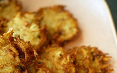 Deceptively simple latkes