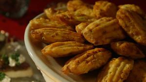 Chorizo-corn madeleines