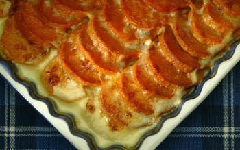 Sweet potato-Gruyere gratin