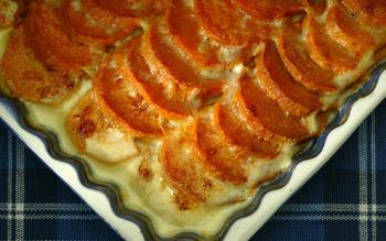 Sweet potato-Gruyere gratin