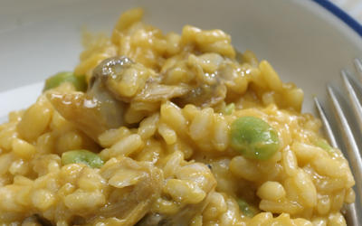 La Terza's risotto with clams and fava beans