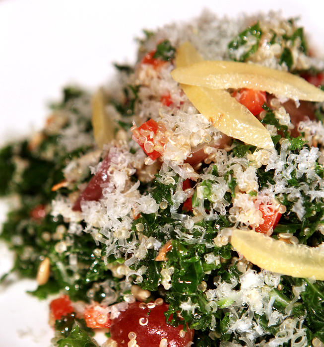 La Grande Orange Cafe's kale and quinoa salad