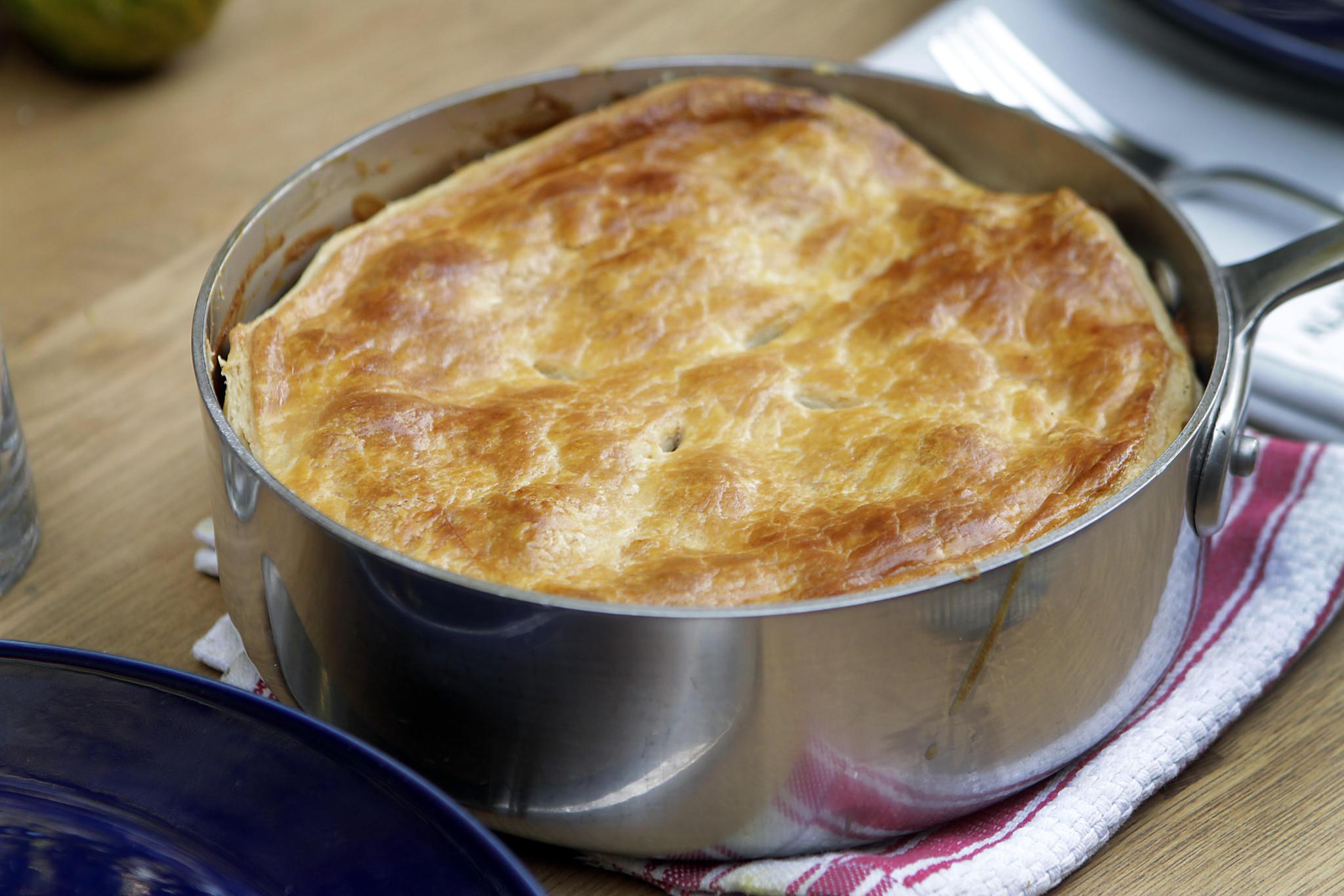 Recipe: Potato and mushroom goat cheese gratin en croute ...