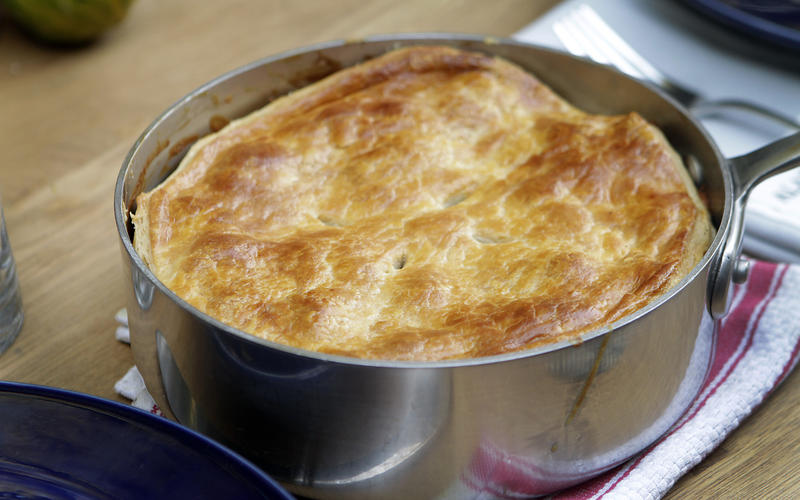 Recipe: Potato and mushroom goat cheese gratin en croute - California ...