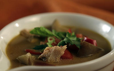 Thai-style turkey soup