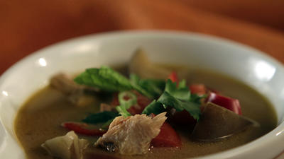 Thai-style turkey soup