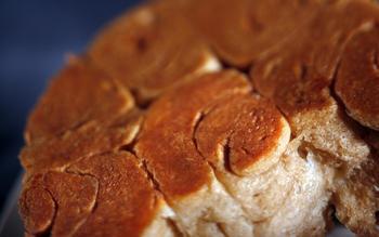 Hanukkah kubanah with fig jam (pull-apart Middle Eastern bread)