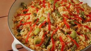 Sofregit-vegetable rice