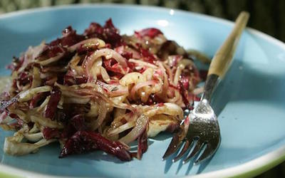 Radicchio slaw with balsamic vinaigrette