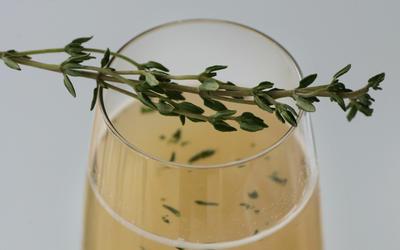 Fresh Thyme Bellini