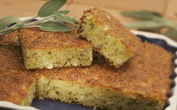 Cheddar-sage cornbread