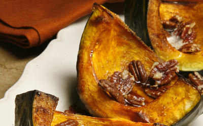 Roasted kabocha squash with brown butter