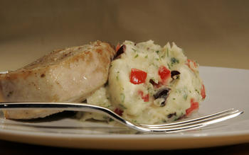 Swordfish with Provencal mashed potatoes