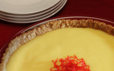 Meyer lemon curd tart