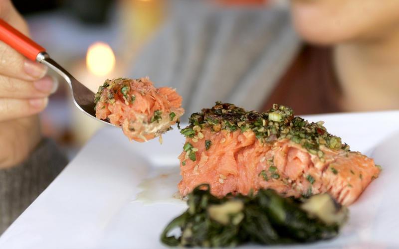 Chipotle roasted salmon