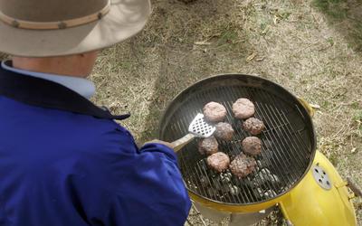 January barbecue onion burgers