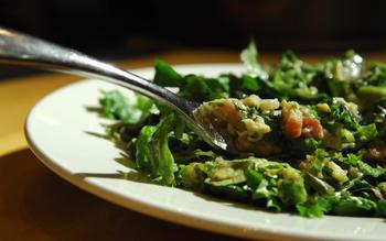 Insalata Pontormo (Warm salad with pancetta and eggs)